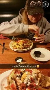 Shaylee likes to take pictures of me when im eating! 😀 it's all good tho!