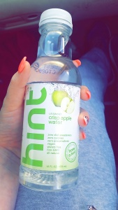 Hint crisp apple water. My favorite!