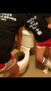 cheer camp struggles: our toilet flooded.
